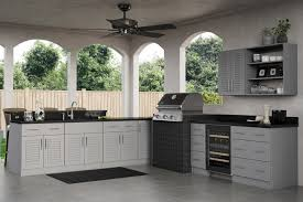 Outdoor Cabinets Ideal Cabinetry Adds Rustic Gray To Its Outdoor Polymer Cabinets
