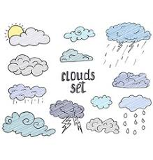 background with clouds sketches royalty free vector image