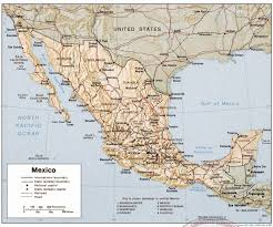 Mexico Map 1821 by Mexican Military Personnel