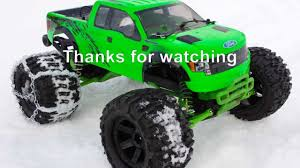 traxxas monster jam trucks before and after using tire chains traxxas monster jam in the