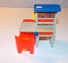 Little Tykes Toy Box Vintage Little Tikes Tykes Dollhouse Workbench Tool Bench Two Red