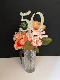 Centerpieces 50th Birthday Party by Any Number Centerpieces 50th Birthday Centerpieces Gold