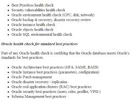 sql server health check report template oracle health check