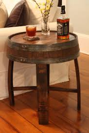 whiskey barrel side table coffee table handmade vintage oak whiskeyl coffee table wine