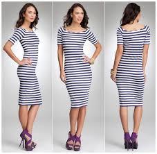 dress of the day u2013 bebe lara nautical stripe midi dress