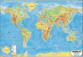 Topographic Map Of The World by Buy World Map Physical 100 X 70 Cm Book Online At Low Prices