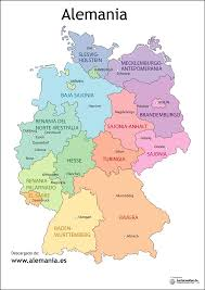 Map In Spanish Mapa De Alemania Deutsch Andrea Pinterest Bavaria