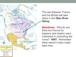 ohio river valley map and at war both claim ohio river valley ppt