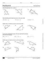 printables sine cosine and tangent practice worksheet answers