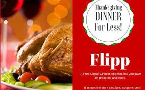 flipp digital circular app save on thanksgiving dinner