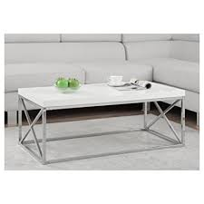 glossy white coffee table amazon com monarch specialties i 3028 cocktail table chrome metal
