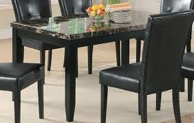 black marble dining table and chairs for wonderful impression