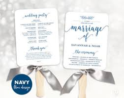 Wedding Program Templates Fans Printable Wedding Program Template Rustic Wedding Fan