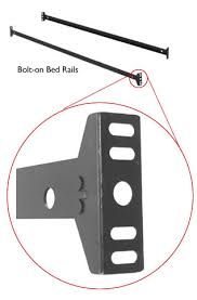 Replacement Bolts For Bed Frame King Bed Rail Frame W 6 Legs Bed Rails Thesleepshop