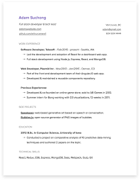 computer science resume template an opinionated guide to writing developer resumes in 2017