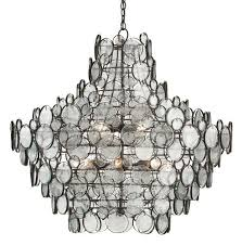Recycled Glass Light Fixtures by Recycled Glass And Iron Room Chandelier The Designer Insider