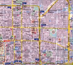 Map Of Beijing China by Beijing Dongcheng And Chaoyang Districts Map Full Detail