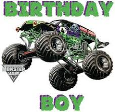 grave digger monster truck poster would make a great poster behind where they sit or to put on a t