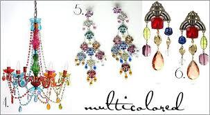 Colorful Chandelier Earrings Gypsy Chandelier Multi Coloured U2013 Eimat Co