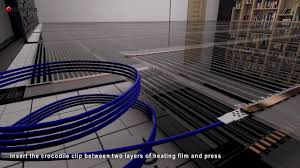 Underfloor Heating For Laminate Flooring Heating Film Termofol Visualization Of The Installation Under