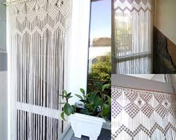 Curtain Wire Room Divider Macrame Curtain Etsy