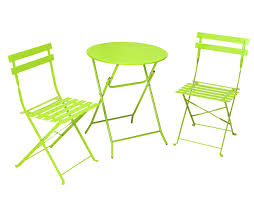 Lime Green Patio Furniture by Cosco Products Cosco 3 Piece Folding Bistro Style Patio Table