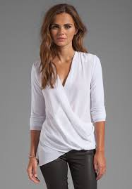 white wrap blouse a update to the white blouse ideas i
