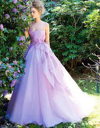 purple wedding bride dress