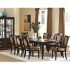 30 X 60 Dining Table Amazon Com Steve Silver Company Montblanc Table With Two 18