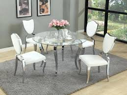 glass parsons dining table chrome and glass dining table dining tables modern glass dining