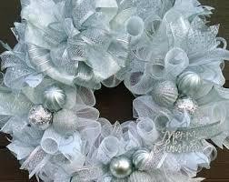 silver wreath etsy
