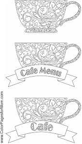 coloring pages starbucks coffee mug coloring