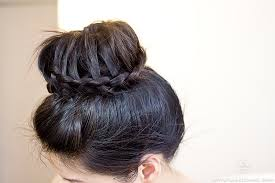 donut bun how to tutorial lace braided donut bun labellemel