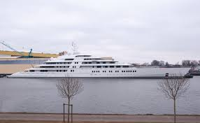 german shipyard launches world u0027s largest private yacht at 591 feet