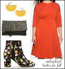 how to style embroidered ankle boots for fall wardrobe oxygen