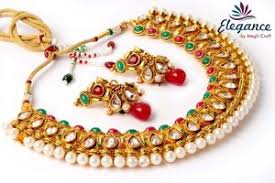 jhumka earring south indian one gram gold pearl necklace jhumka earring bridal