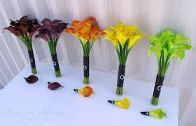 calla boutonniere 10 wedding bouquet set real touch calla bridesmaid