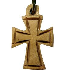 wooden celtic cross buy small celtic cross olive wood necklace with leather cord