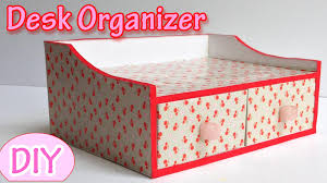 Diy Craft Desk With Storage by How To Make A Desk Organizer Ana Diy Crafts Youtube