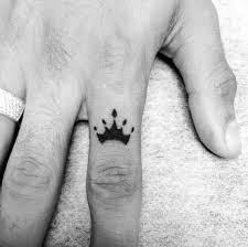 mens finger of crown small ideas tattoos