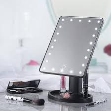 Cosmetic Mirror 22 Led Touch Screen Makeup Mirror Tabletop Cosmetic Vanity Light