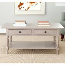 Coffee Tables With Storage by Safavieh Boris Light Oak Stain Storage Coffee Table Amh5706a The