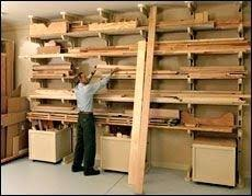 Build Wood Garage Shelves by All About Lumber Storage Fine Woodworking Articlehow To Build Wood