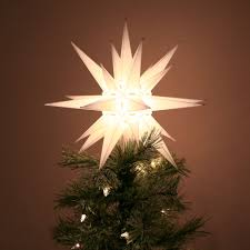 moravian star light tree topper north carolina christmas