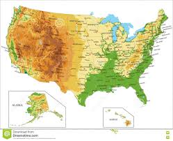 Alaska Map Cities by United States Physical Map Geography Blog Physical Map Of The