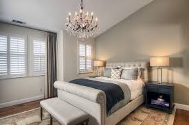 Modern Bedroom Chandeliers Modern Platform Bed Bedroom Transitional With Asymmetrical Crystal