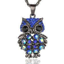 owl necklace pendants images Lemon value fashion charms rhinestone gold color owl pendants jpg