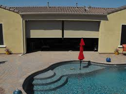 Patio Roll Down Shades Patio Ideas Roll Up Patio Blind Beside Pool With Also Flooring