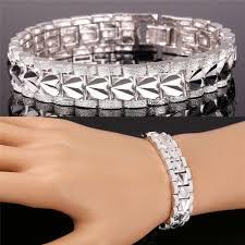 links style bracelet images 12mm wide men bracelet rock style 18k gold platinum plated 19cm jpg