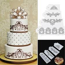 Aliexpress Com Buy 4pcs Set Plastic Cake Decro Mould Beautiful